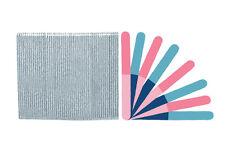 Standard Pink/Blue 4-way Cushioned Washable Professional Beauty Salon Nail Files