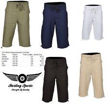 Mens 3/4 Length Cotton Shorts Casual Pants Summer Holiday Beach Bottom S M L XL