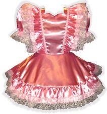 """""""Annette"""" Custom Fit SATIN RUFFLES Adult Baby LG Sissy Dress LEANNE"""