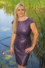 Lederkleid aus SuperSoft ECHT-LEDER elegant in knielang in lila