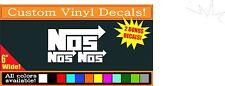 NOS Nitrous Oxide Racing Vinyl logo decal sticker