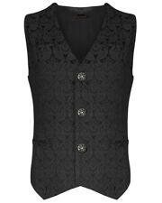 Premium Men's Designer Stylish Black Brocade Casual Vest