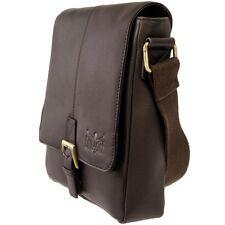 CHIEMSEE Buddy Bag Herren Messenger Tasche Braun Schulter Umhängetasche Magnet