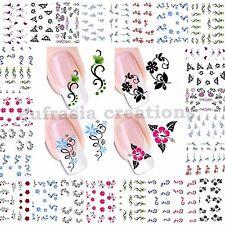 Adesivi decorazione per unghie ad acqua nail art Stickers Water Transfer Fiori