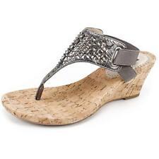White Mountain Womens Arnette Fabric Split Toe Casual Slingback Sandals