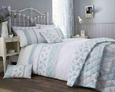 Garden Floral Duck Egg Blue Print Luxury Duvet Sets Matching Bedroom Accessories