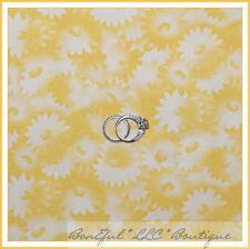 BonEful Fabric Cotton Quilt Donna Dewberry Sm Yellow Daisy Flower Dot Girl Scout