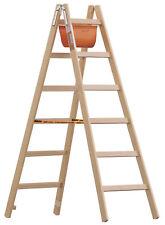 Layher Holz Sprossenstehleiter 1038 Malerleiter 1038.2 Holzleiter mit Ablage