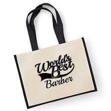 World's Best Barber Cadeau Jute Shopping Cabas Sac