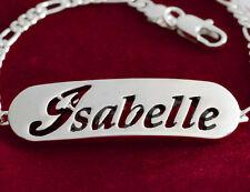 Isabelle-Nombre en Un Pulsera-Plateado-Chapado en Oro 18ct-Regalos Para Ella