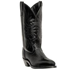 NEW LAREDO Men's Paris Western Cowboy R Toe Black Leather Boots  4240 NIB