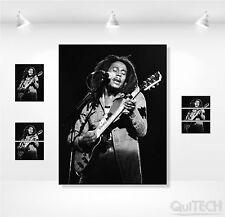 Bob Marley - 7 - Quadro stampa su Tela Pelle Canvas Dipinto Arte Moderna