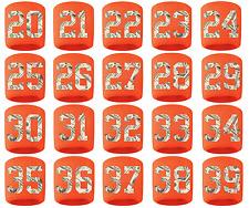 #20-39 Number Sweatband Wristband Football Basketball Soccer Orange Money Print