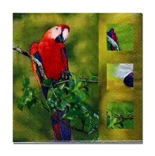 4 Servietten Napkins Tovaglioli Papierservietten Papagei (114)