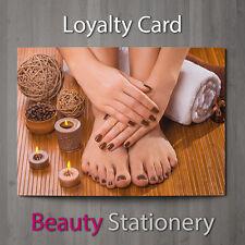 Tarjeta de lealtad de Salón de Belleza Pedicura Manicura Nail técnicos terapeuta A8 Mini