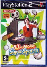 """U-MOVE SUPER SPORTS  """"  Gioco PS2  PLAY STATION2  """"  NUOVO SIGILLATO"""