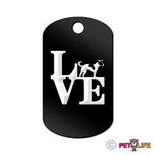 Love Jack Russel Terrier Engraved Keychain Gi Tag dog park profile jrt parson v2