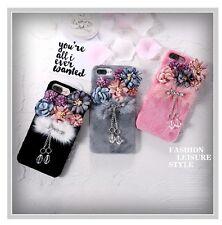 Funda cubierta para iPhone 6 6s Plus Piel De Felpa De Lujo Flor cáscara protectora teléfono