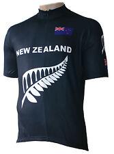 Radtrikot New Zealand schwarz kurzarm (auch Übergrößen bis 6XL)