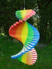 Wind Spinner Wooden Spiral Mobile Garden Ornament - Rainbow Assorted Sizes