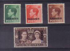 Ed Viii - Tangier o/print set x 3 + 1937 Coronation o/p. Superb unmounted mint.