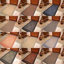 Woven Mat Anti Slip Runner Doormat Heavy Duty Weave Entrance Hallway UK