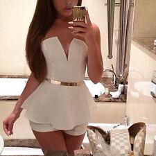 Elegante vestito da donna corto mini abito pantalone party festa ballo  bandeau 473332a3fdd