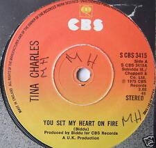 "TINA CHARLES - You Set My Heart On Fire - Ex 7"" Single"