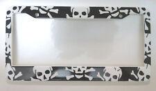 Skulls Crossbones skull pirate License Plate Frame