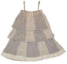Gap Kids NWT Blue White Stripe Tier Eyelet Dress S 6 7 XL 12 XXL 14 16 $35