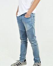 Nuevo Para hombres Biker Jeans Stretch Denim extra Calce Entallado Pantalones Pantalones vaqueros del diseñador de moda