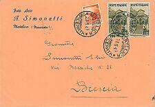ITALIA REPUBBLICA:  BUSTA 28.05.47 - tariffa di 6L in uso per solo 6 mesi!
