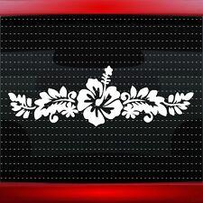 Hibiscus #5 Hawaiian Flower Cute Car Decal Window Sticker Aloha (20 COLORS!)