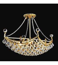 "Palace Crown Gold 28""L 8 Light Crystal chandelier light 0Precio Mayorista"