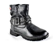 Mädchen Stiefel Kinder Winter Boots Halbstiefel  2 Reißverschlüsse EUR  24 - 30