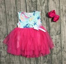 NEW Boutique Mermaid Girls Sleeveless Tutu Dress 6 12 18 2T 3T 4T 5-6