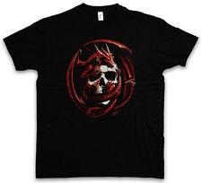 SKULL & DRAGON T-SHIRT - Dungeons Gothic Warrior Fantasy Rider Larp T-Shirt