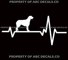 Heart Beat Line Dog Irish Wolfhound Love Adoption Puppy Rescue Car Vinyl Decal