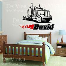 Car Classic Wheels Sport Truck Custom Wall Room Name Vinyl Wall Decal Sticker