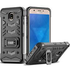 J&D Galaxy J3 2018 [Holster Belt Clip] [Kickstand] Hybrid Holster Rugged Case