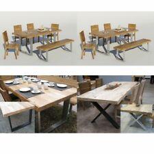 Tische Esstische Baumkante Eiche mit Metall-Gestell versch. Größen NEU/OVP