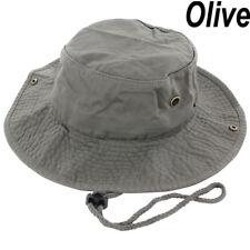 Mens Boonie Bucket Hat Cap Cotton Fishing Hunting Safari Summer Military Oliver