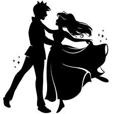 """Sticker Déco """"Le Prince et sa Princesse dansent au bal""""  (20x19 cm à 30x28 cm)"""