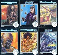 DONJONS & DRAGONS 6 Cartes Neuves de 1992 (DUNGEONS) Lot N° 038