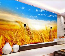 3D Blé Doré 33 Photo Papier Peint en Autocollant Murale Plafond Chambre Art