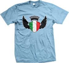 Italian Shield Crest Wings Italia Flag Colors Heritage Team ITA Men's T-Shirt