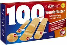 WUNDmed 100 Stk. Wundpflaster wasserfest Pflaster Set  4 verschiedene Größe