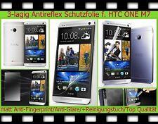 3 x Anti reflex glare Display Schutz Folie HTC ONE M7 matt Screen PROTECTOR Set