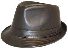 Unisex Piel Sintética Vintage Sombrero Trilby 2 colores