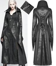 Manteau long cuir jacquard 3D gothique punk lolita elfique métal corset PunkRave